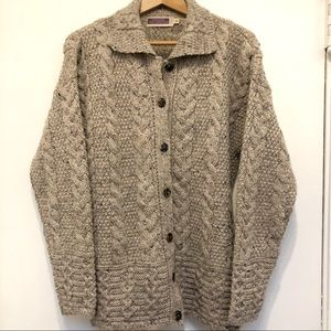 Highland Industries Wool Cable Knit Cardigan